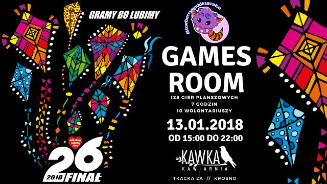 BBPC organizuje games room dla WOŚP, podczas eventu udostępnimy ponad 100 gier planszowych.