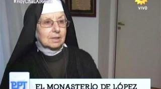 La religiosa, de nombre Inés, relató lo ocurrido durante la madrugada del domingo en que el ex funcionario kirchnerista fue detenido. Contó que la madre ordenó que le abrieran la puerta, y que ella sólo había visto a López una vez.