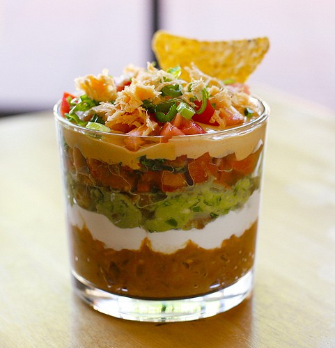 ... sour cream, guac, salsa, cheese, decorative peppers and MORE cheese