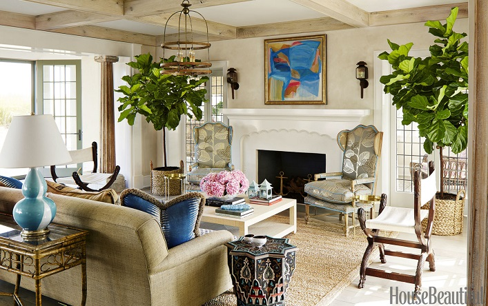 Mix and chic anthropologie 39 s founder boho chic home Living room interior design photo gallery