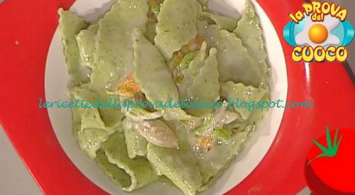 Maltagliati al basilico con toma e fiori di zucca ricetta Improta da Prova del Cuoco