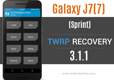 TWRP Recovery for Galaxy J7 2017 Sprint