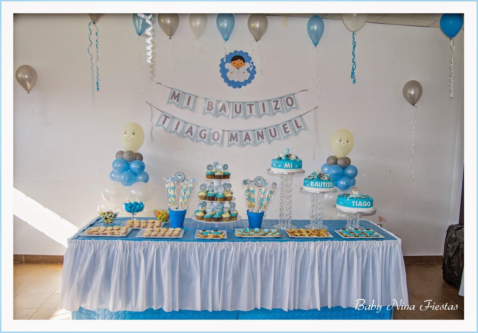 Baby nina fiestas bautizo de tiago for Mesa de dulces para bautizo de nina