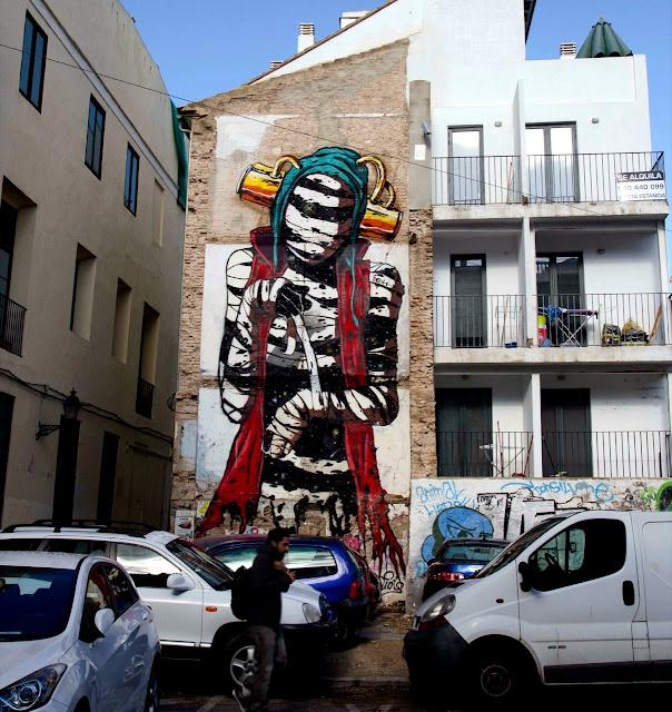 New Street Art Mural By Deih For Incubarte Urban Art Festival In Valencia, Spain. 1
