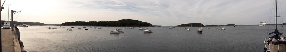 Dans la baie de Bar Harbor à Acadia National Park