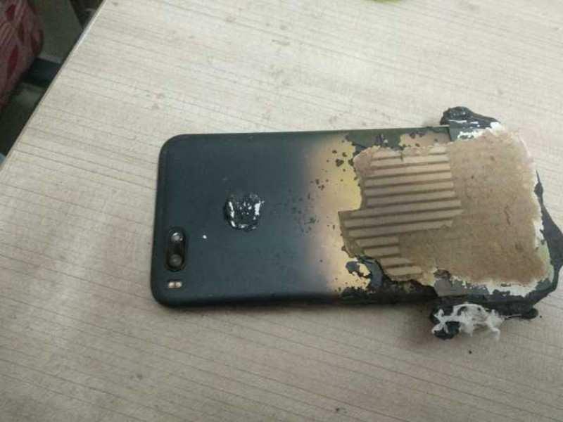 Xiaomi Smartphone Mi A1 Explode