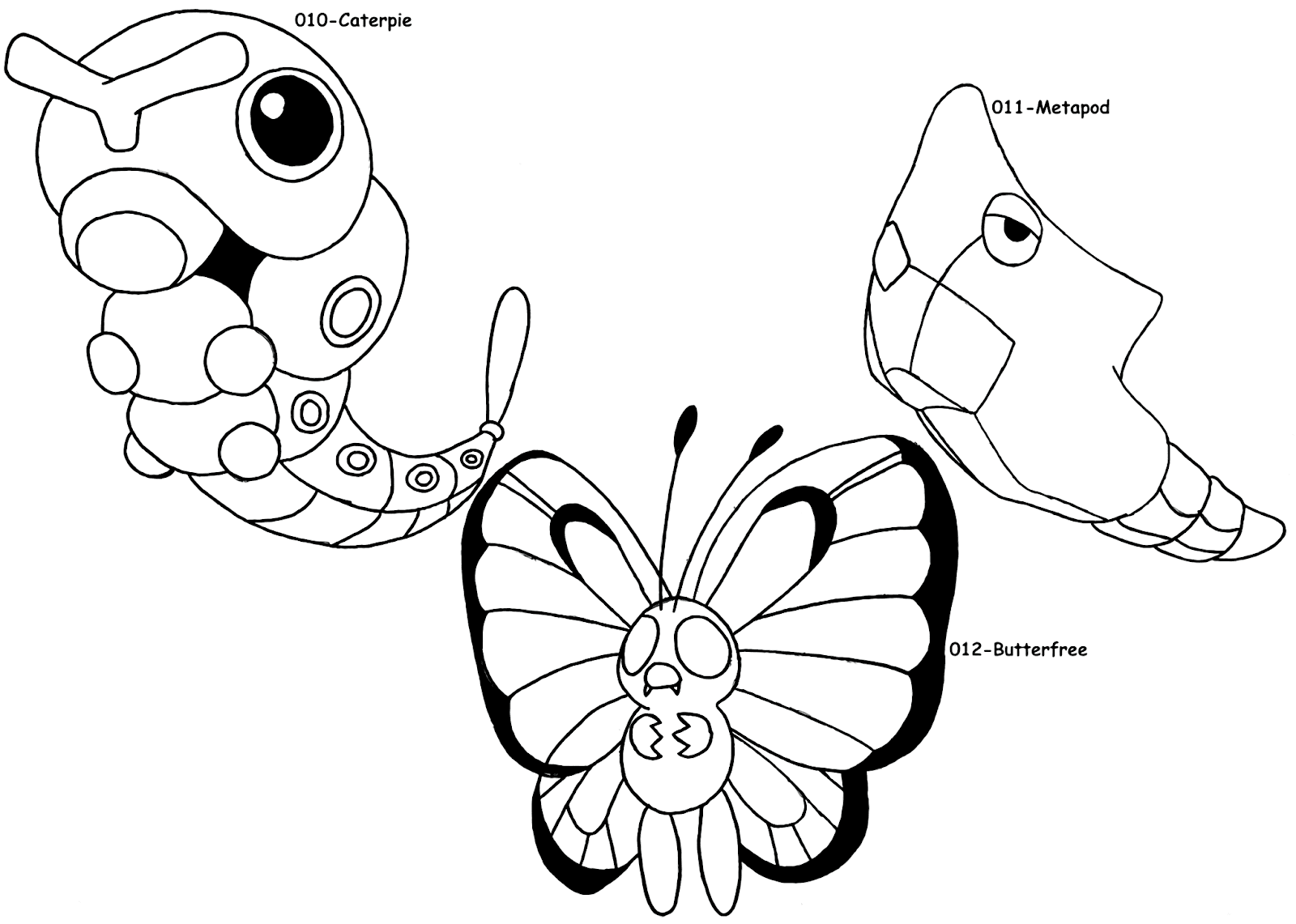Collection of Caterpie Coloring Pages to Download Free