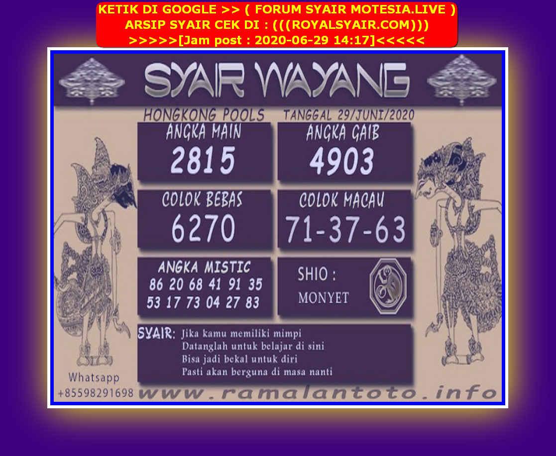 Kode syair Hongkong Senin 29 Juni 2020 182