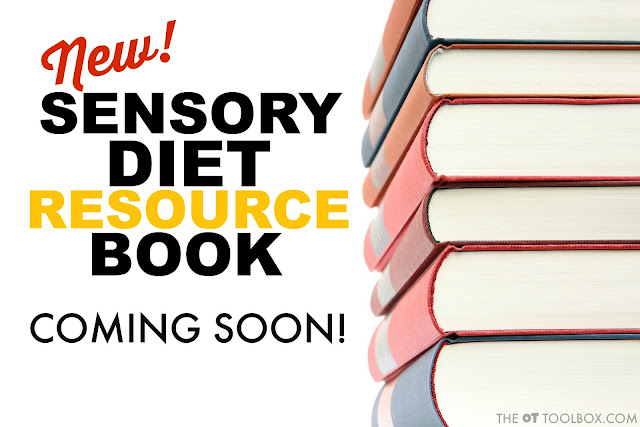 Sensory Diet resource guide book will help therapists, teachers, and parents learn about sensory diets and discover how to create a sensory diet strategy that encourages function in kids with sensory needs.