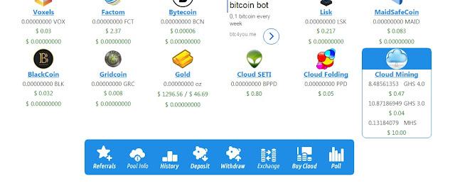 đào bitcoin free trên eobot