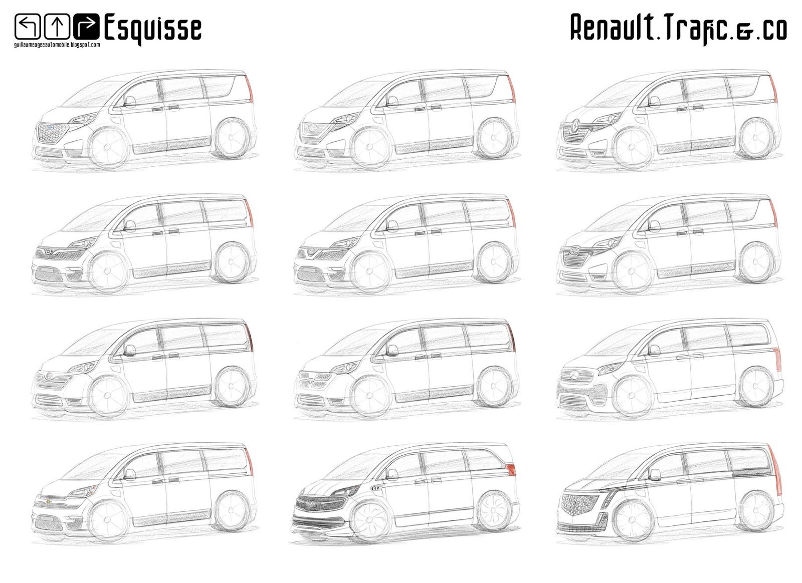 Guillaume Agez Automobile Esquisse Renault Trafic Iv