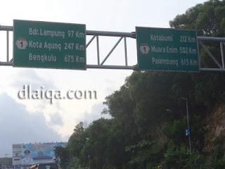 menuju Bandar Lampung