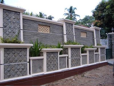 Desain Pagar Batu Alam