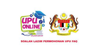 Soalan Lazim Permohonan UPU 2019 (FAQ)
