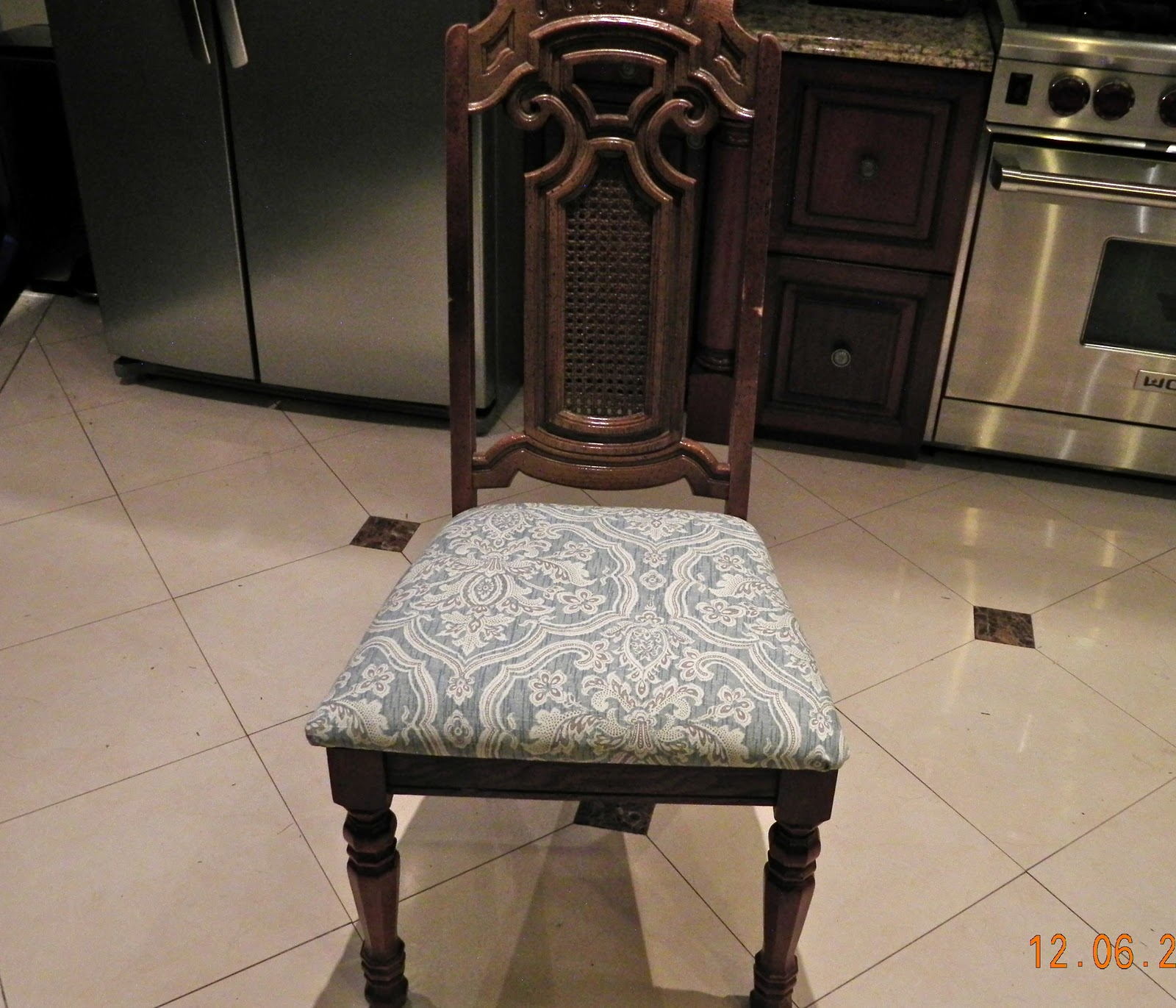 Sheer Serendipity: Reupholstering Dining Chairs