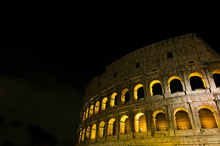 Roman Colosseum at Night - 12 Days in Italy