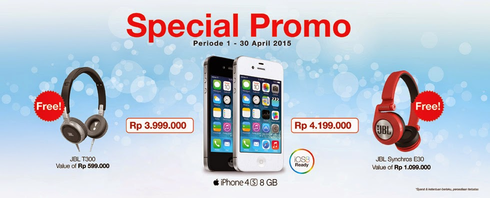 Beli iPhone 4S Bonus Headphone JBL