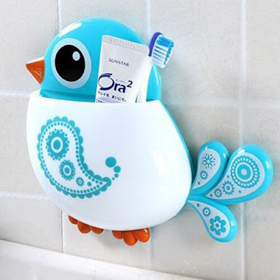Blue Birdie Wall Pocket