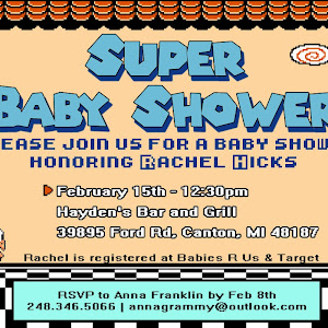 Super Mario Baby Shower, Plus DIY Onesies And Mobile