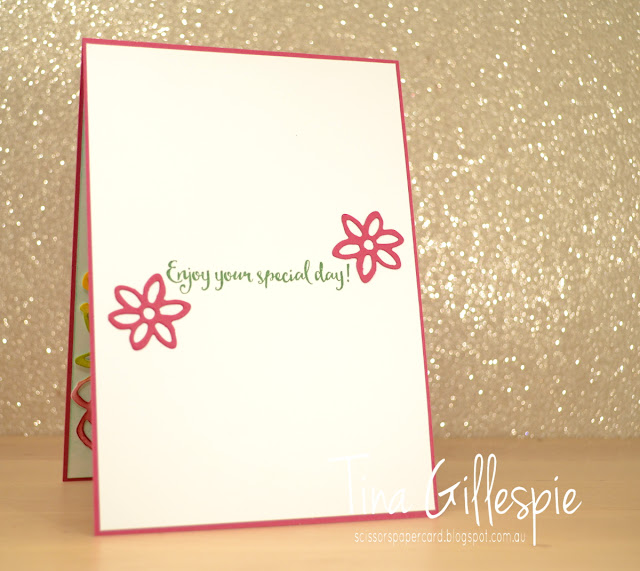 scissorspapercard, Stampin' Up!, Springtime Impressions Thinlits, Happy Birthday Gorgeous, Dragonfly Dreams