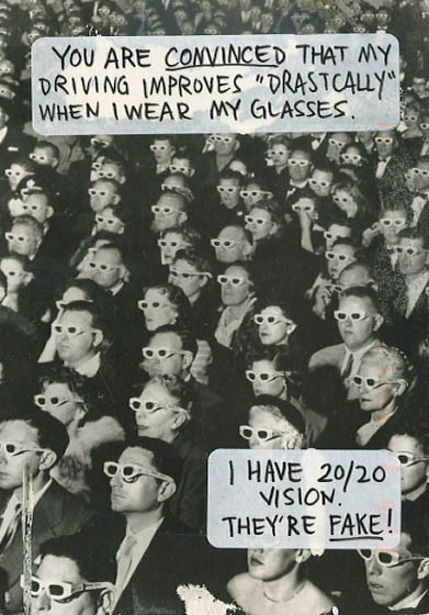 PostSecret, wearing plain glasses