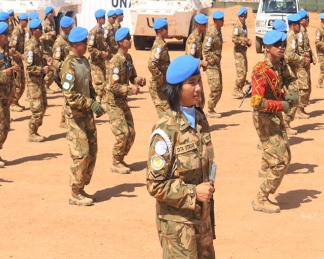 Pasukan Garuda TNI Meriahkan Hari Pasukan Perdamaian di Darfur