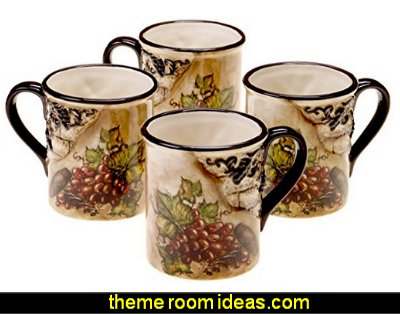 Tuscan View Mug  Tuscan theme decor - grape decor - wine barrel decor - Tuscan theme decorating ideas - rustic decorating ideas old world furniture - Tuscan decor - Tuscan themed bedroom decor - Tuscany vineyard style decorating - rustic decor - Italian cafe - Tuscan themed kitchen accessories - Tuscan wall murals - Tuscan bedroom ideas - Venice Italy decorating ideas - Tuscany kitchen decor - wine kitchen decor - Tuscan style decorating - Italian-inspired Living - Tuscan vineyard style decorating