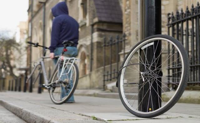 Ciclista, alarmas, cadenas