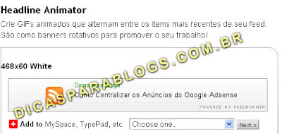 colocar banner animado no blogger