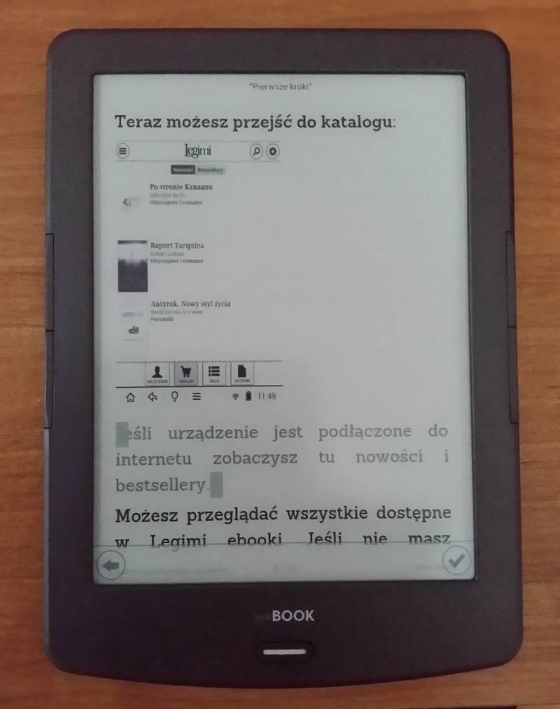 Aplikacja Legimi umożliwia zapisywanie fragmentów tekst jako cytatów