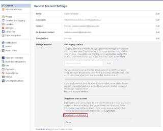 Cara Menghapus Akun Facebook Sendiri Sementara Maupun Permanen dengan Mudah