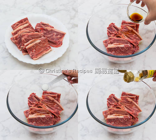 白蘿蔔炆牛仔骨製作圖 Beef Short Ribs with Radish Procedures02