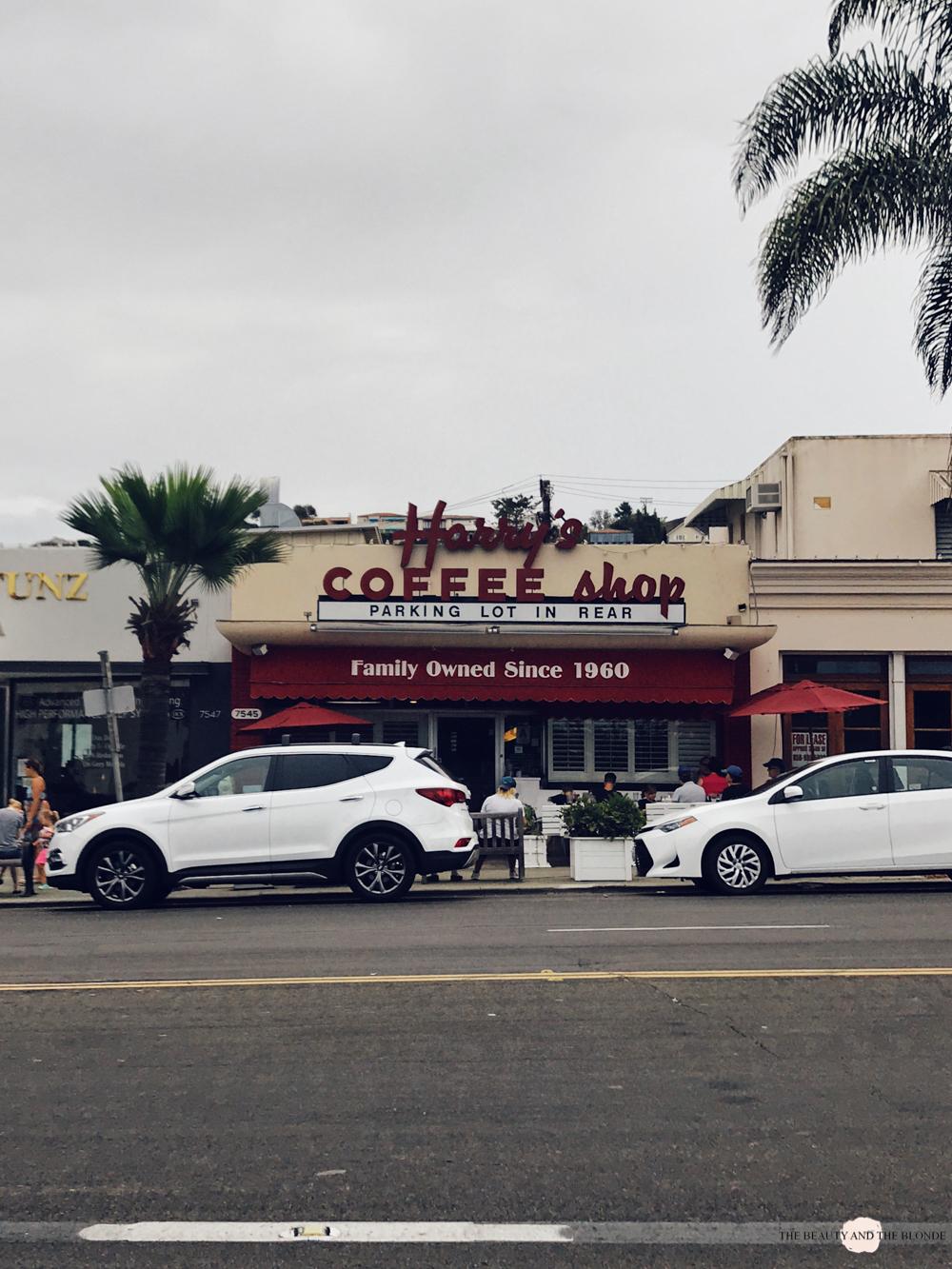 Harry's Coffee Shop San Diego La Jolla