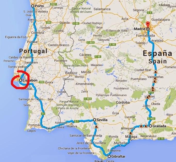 cabo da roca mapa Adam's World: Iberian Roadtrip—Part 1: Lisbon, Sintra, Cabo da Roca cabo da roca mapa