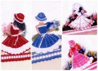 Patrones crochet miniaturas vestidos