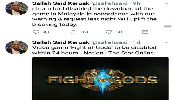 SKMM Melepaskan Sekatan Terhadap Platform Permainan Popular Steam selepas 'Fight Of Gods' Di Sekat