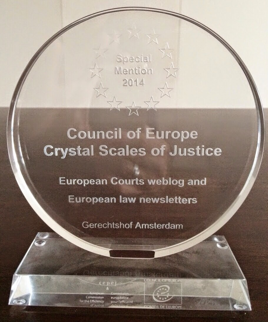 European Courts wins CoE's 2014 CEPEJ Prize