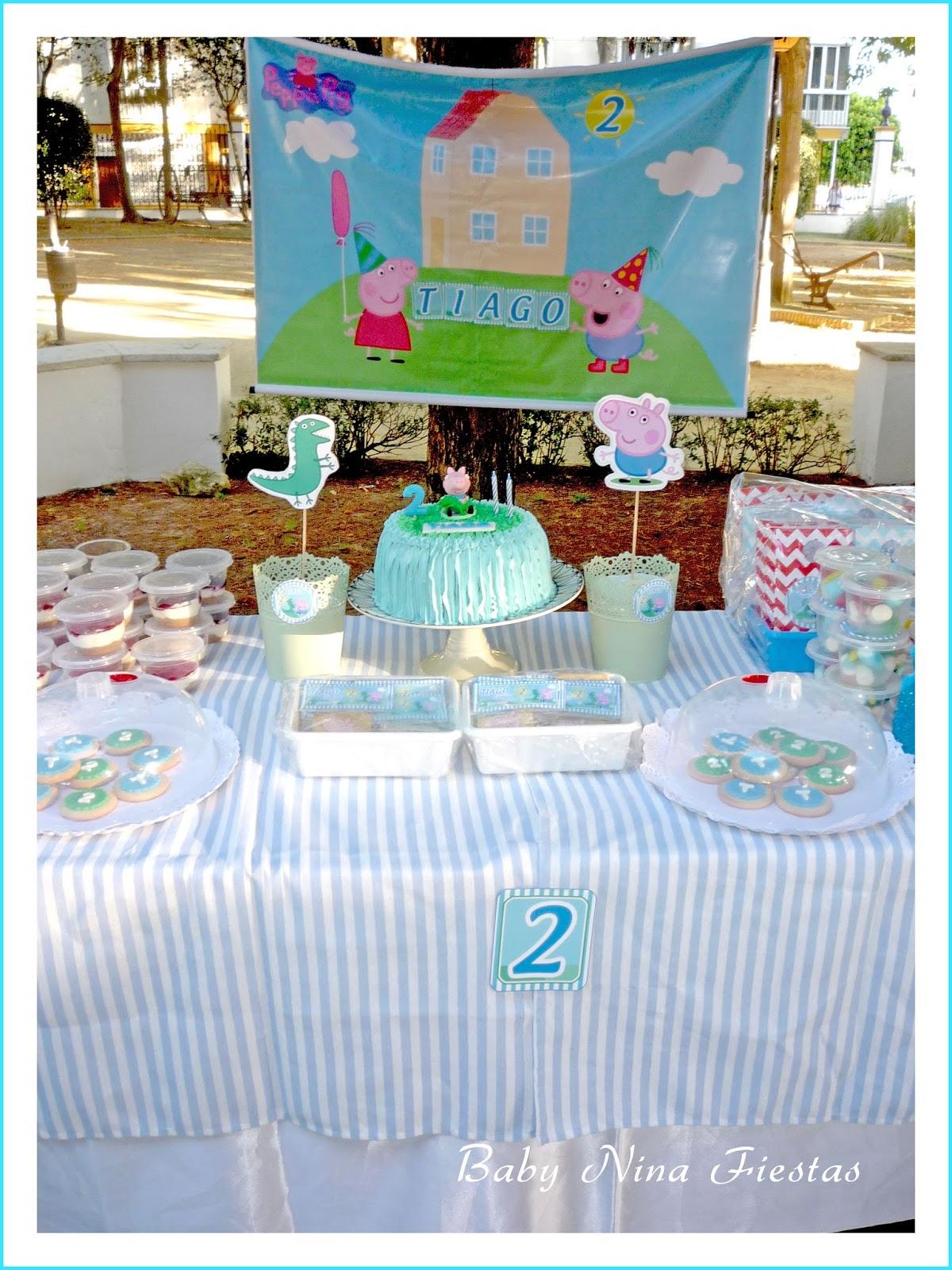 Baby nina fiestas mesa dulce george pig en el parque para for Decoracion de parques