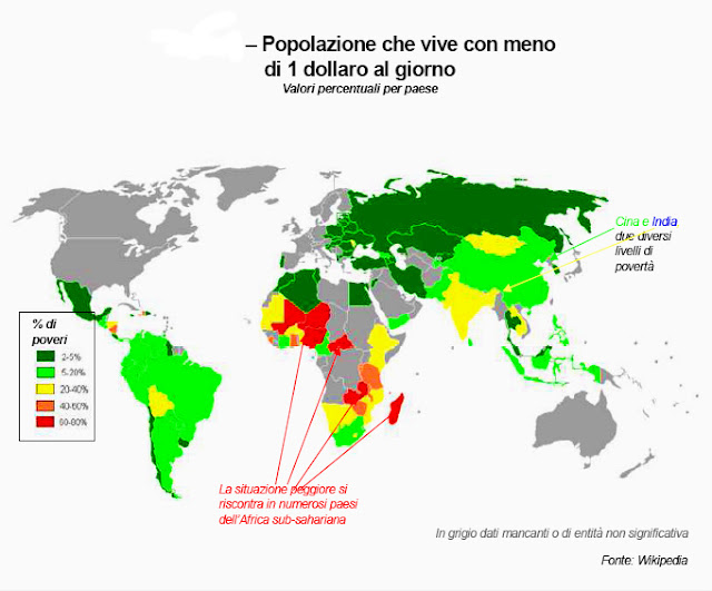 reddito popolazione mondiale