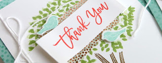 Thoughtful Branches Summer Thank You Card #thoughtfulbranches #stampinup