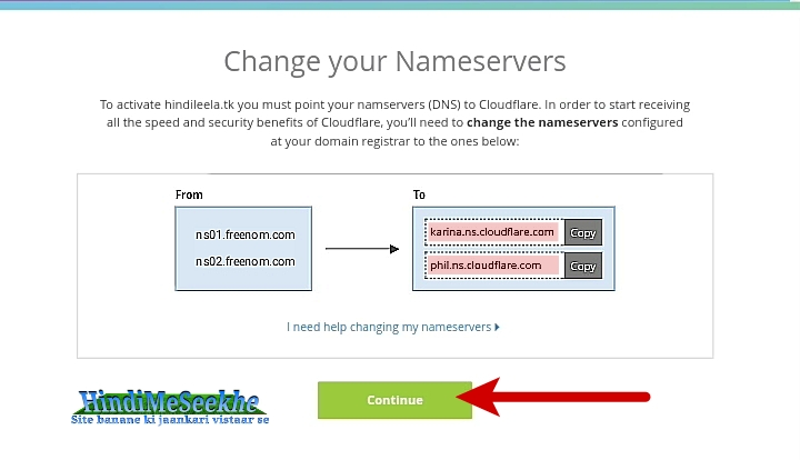 cloudflare-change-domain-nameservers-continue