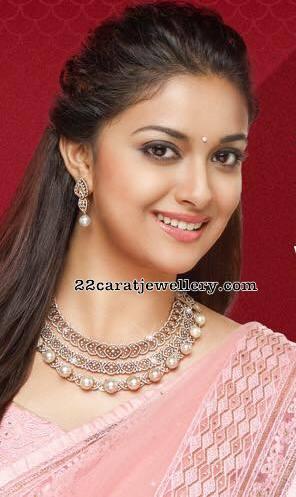 Keerthi Suresh Solitaire Diamond Choker