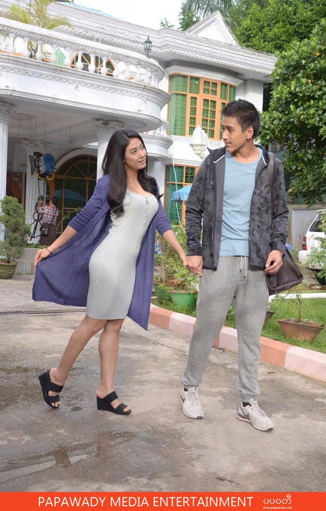 Behind The Scenes - Thinzar Wint Kyaw and Aung Ye Linn In New Myanmar Movie