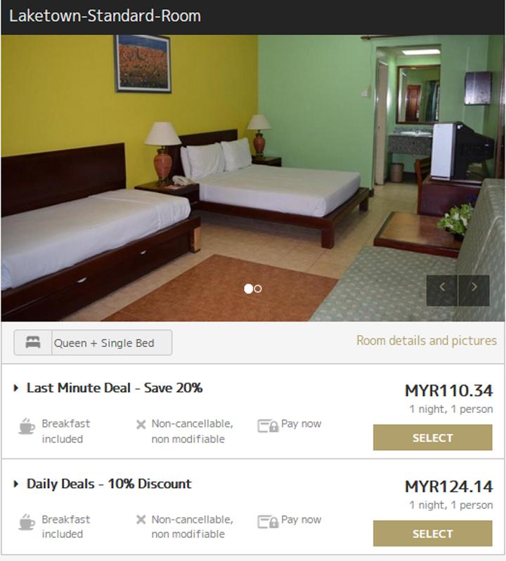 Harga promosi penginapan di Bukit Merah Laketown Resort, Perak