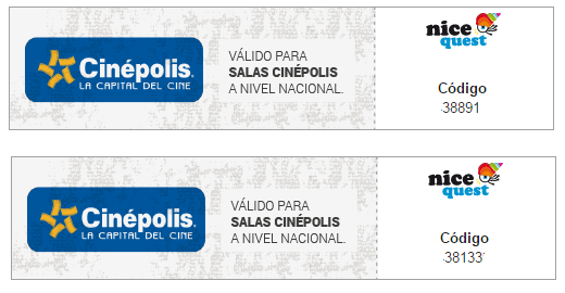 Boletos de cine Nicequest