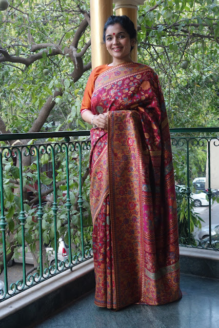 Red Kani saree