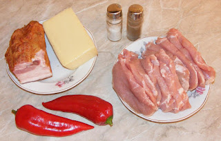 retete cu cotlet de porc, retete cu cascaval, retete cu costita de porc, preparate din porc si legume, retete culinare, retete cu cascaval si ardei kapia,