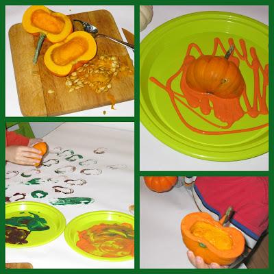 Mini Pumpkin Prints Art Project