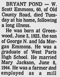 Obituary of Walter Scott Emmons II