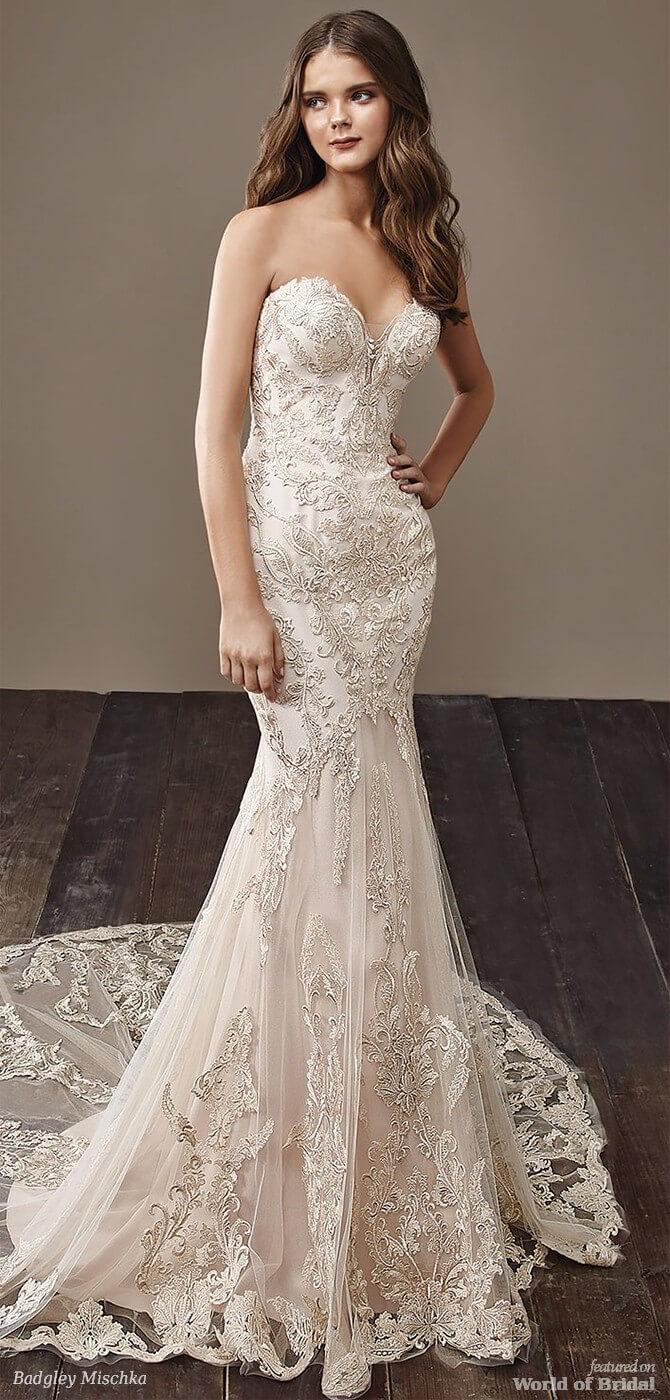 Badgley Mischka 2018 classic mermaid bridal gown